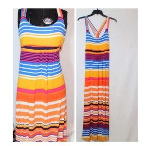 Calvin Klein casual striped strappy maxi dress